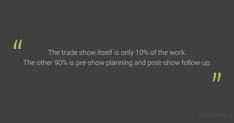 Trade show rule